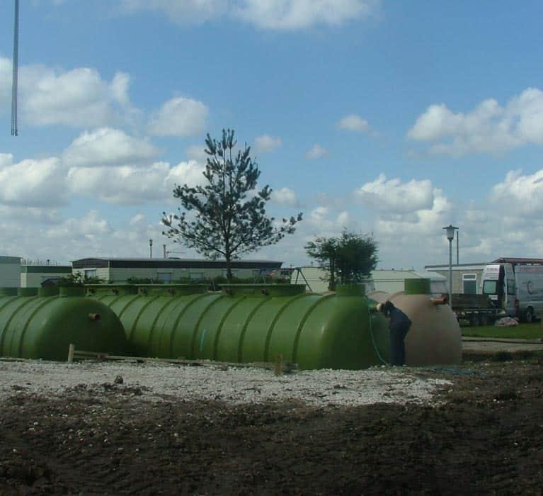 Sewage plant installed