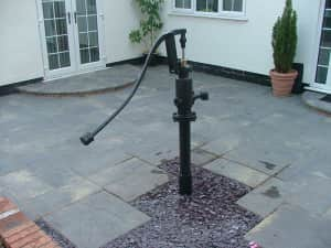 Domestic Water Pump in garden