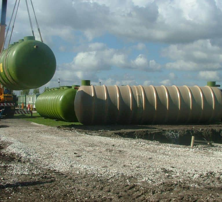 Installing the sewage plant