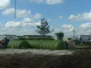 water tanks outside
